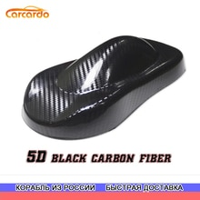 Carcardo-autocollant vinyle 5D pour voiture   Étiquette brillante, en Fiber de carbone 5D, Film enveloppe de voiture, sans bulles