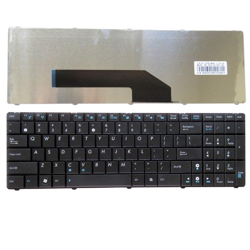 GZEELE nueva inglés nos teclado del ordenador portátil para ASUS K70 K70A K70AB K70AC K70AD K70AE K70AF K70I K70IC K70ID K70IJ K70IL K70IO negro
