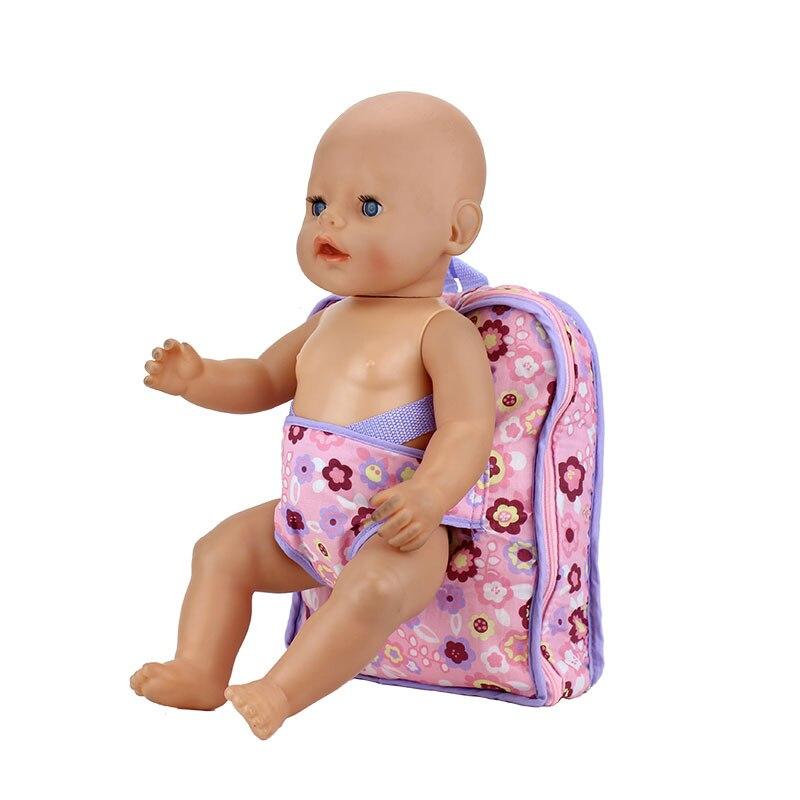 Mochila de muñeca para transportar al aire libre, paquetes de salida, adecuada para llevar, para muñecas Reborn bebés de 43cm