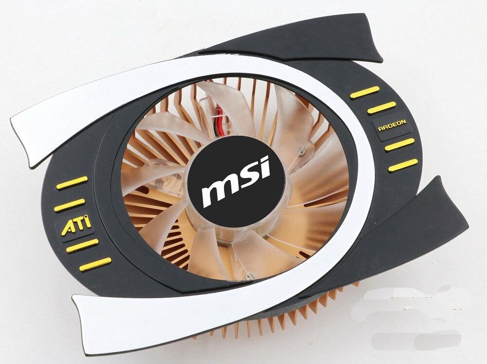 Вентилятор охлаждения для видеокарты ATi RADEON, Кулер Для Охлаждения видеокарты с отверстиями 43*43 и 53*53 мм