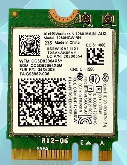 Ssea novo para intel wireless-n 7260 7260ngw ngff 802.11bgn wifi bluetooth 4.0 para ibm t440 t440p w540 l440 x240 x240s fru 04x6009