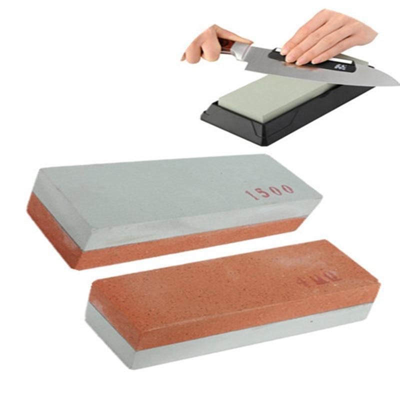 400 #1500 # doble lado cuchillo amolar afilado pedra herramienta piedra afilar afilador de piedra pulir Cocina