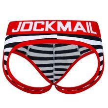 JOCKMAIL ouvert dos nu entrejambe g-strings Sexy hommes sous-vêtements slips Gay pénis tanga court mâle sous-vêtements Slip tongs Jockstrap