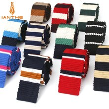 Fashion Mens Knit Ties Colorful Stripe 6cm Slim Knitted Skinny Neckties For Men Party Wedding Male Neckwear Tie Cravat Corbatas
