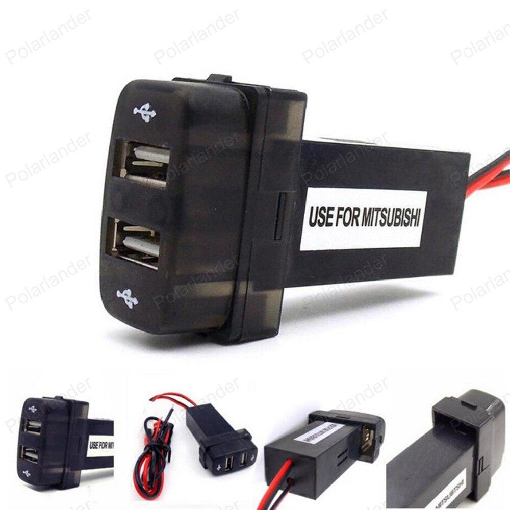 Dupla 2 portas usb adaptador para mitsubishi carregador de carro especial 5 v 2.1a carro DC-DC inversor de potência conversor para i/telefone & móvel