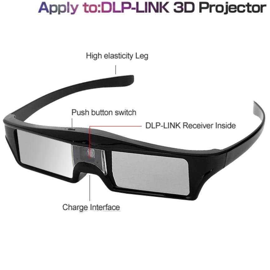 ELECTSHONG-Gafas de obturador activo 3D, DLP, para Epson/Sony LG Acer, proyectores de...