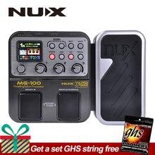 NUX MG-100 MG100 Modellierung Gitarre Prozessor Gitarre Effekt Pedal Trommel Tuner Recorder Multi-funktion Mit Gitarre Modellierung Prozessor