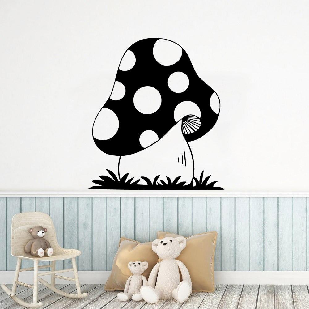 Criativo cogumelo adesivo de parede removível adesivos de parede diy papel de parede para crianças quartos decoração da sua casa arte decalque