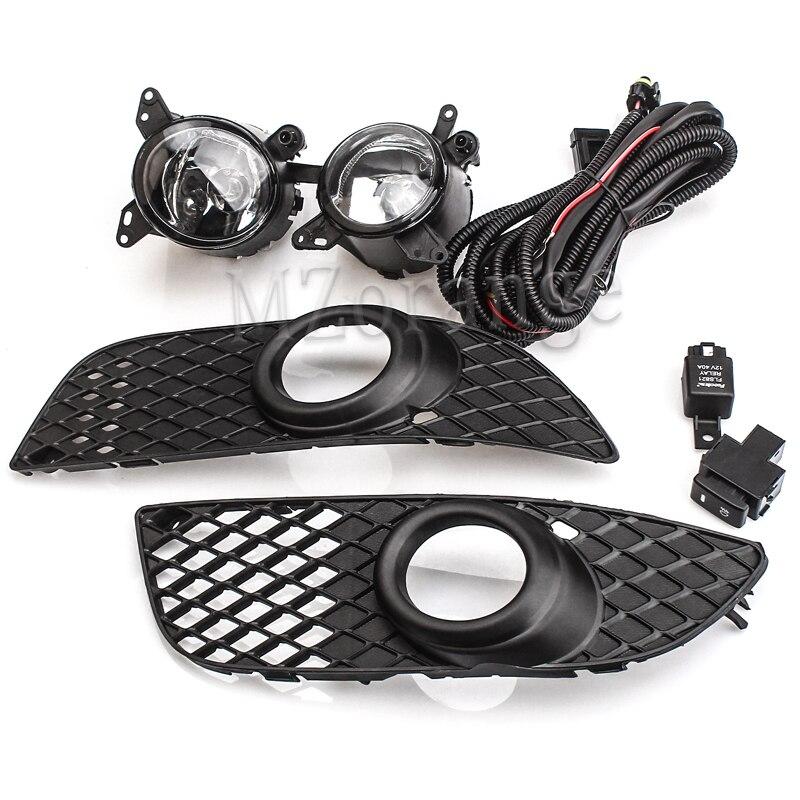 fog lights for Mitsubishi Lancer 2008-2014 fog lamps headlight cover fog light foglights Bumper Grille Wiring Switch Kit