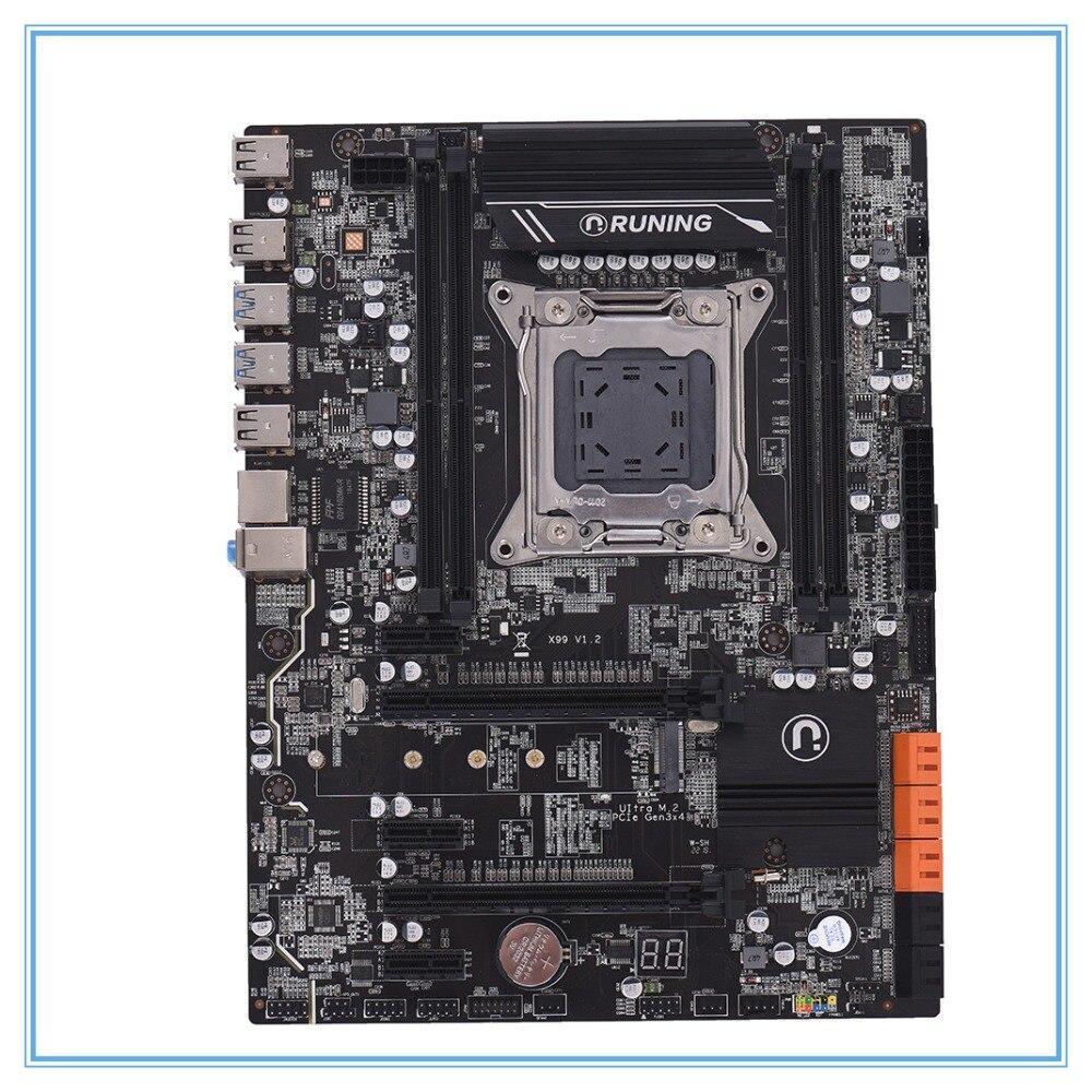 New desktop motherboard X99 V1.2 DDR4  LGA 2011-v3 ATX cpmputer mainboard DIMM Slots  SATA 3.0 and USB 3.0