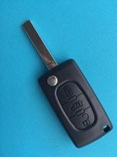 Zeeudeir para Peugeot socio experto para Citroen Berlingo para DISPATCH 3 botones flip KEY FOB funda de carcasa de control remoto uncut VA2 blade