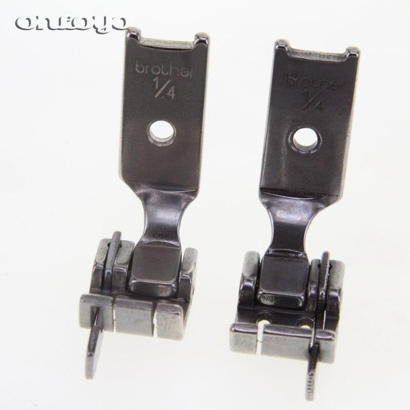 Prensatelas de aguja izquierda/derecha S570 1/4, presión de pie con cuchillos izquierdo/derecho (Mensaje en vivo sobre el tamaño)