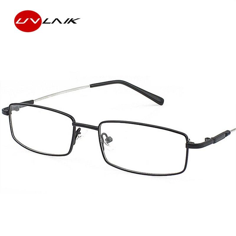 UVLAIK, recién llegado, montura de gafas de titanio con memoria, montura de gafas ópticas, montura clásica de negocios, para hombres, esenciales, montura completa de anteojos con marco