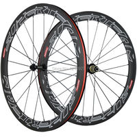 Superteam Carbon Wheels Road Bike 50mm Clincher Carbon Wheelset 3k Weave Chinese Full Carbon Fibre R13 hub