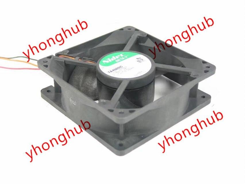 Nidec ta450dc B33534-58 servidor ventilador de refrigeração dc 24v 0.38w 120x120x38mm 3-wire