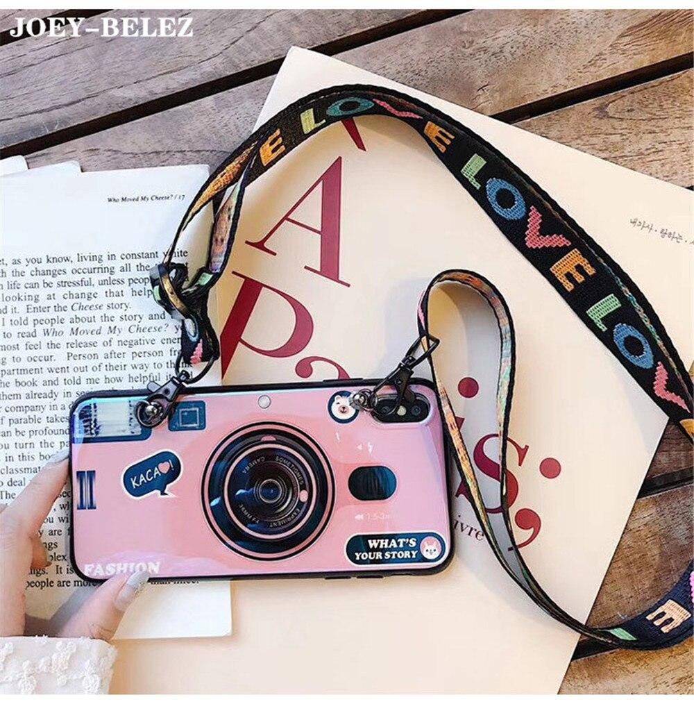 Ретро чехол для камеры Samsung Galaxy A50 A30 A70 A750 M10 M20 мягкий чехол с ремешком для Galaxy S8 S9 S10 Plus S7 A8s A9s чехол