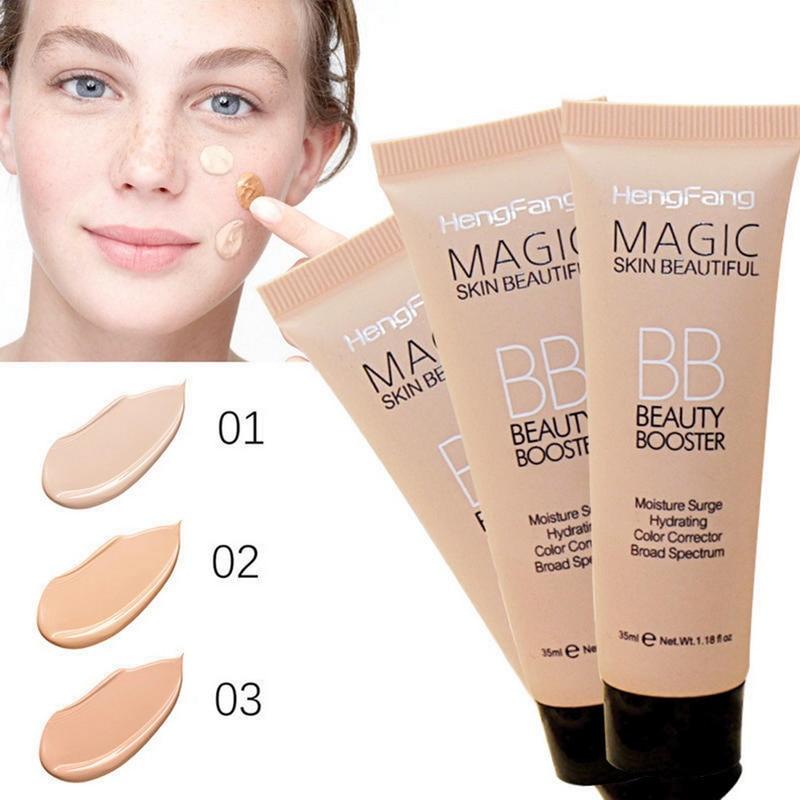Crema aislante HengFang para blanquear la cara, crema BB hidratante duradera, maquillaje Natural de Contron