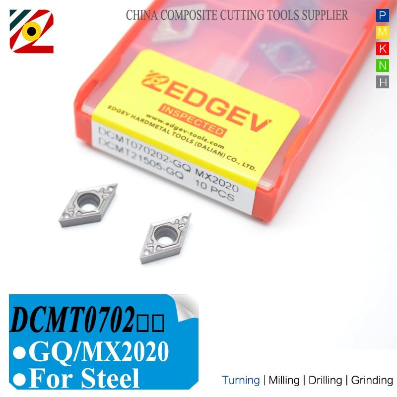 EDGEV Cermet карбидные вставки DCMT0702 DCMT070204 DCMT расточные Металлические Керамические токарные станки с ЧПУ токарные инструменты DCMT070208-HQ TN60