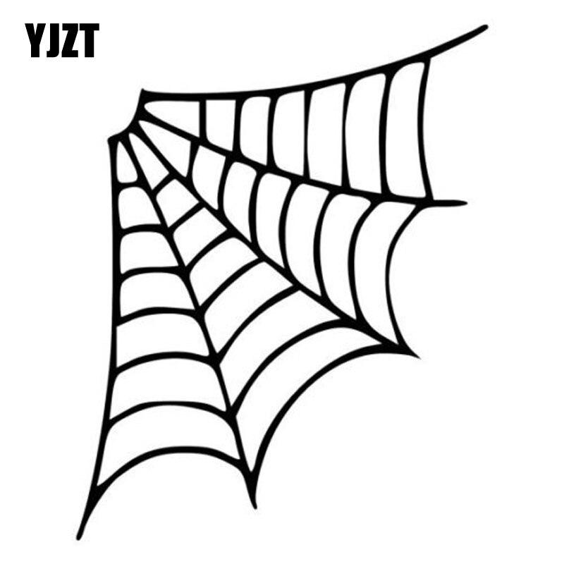 Yjzt 12.8*16 cm personalidade dos desenhos animados aranha web carro adesivo decalque do vinil preto/prata S8-1320