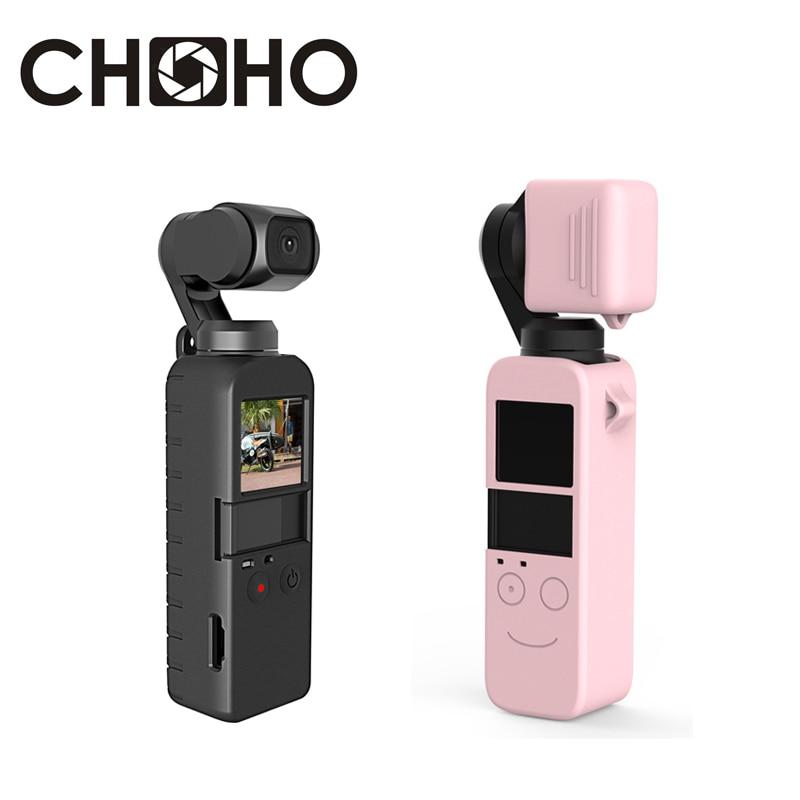 Pour Osmo accessoires de poche coque de protection souple en caoutchouc Silicone silice ge lentille capuchon protecteur logement pour caméra DJI Yuntai