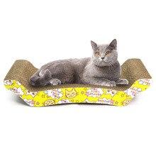 Tapis en papier ondulé pour chats   Jouets en forme de M pour chats, planche à gratter pour chats, tapis pour gratter les ongles