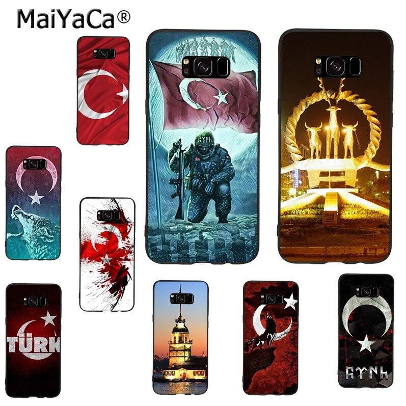 MaiYaCa, bandera de la República de Turquía, Ankara, carcasa colorida para teléfono Diy para samsung galaxy s8plus s9plus s7 s6 note 8 note 5 4, funda