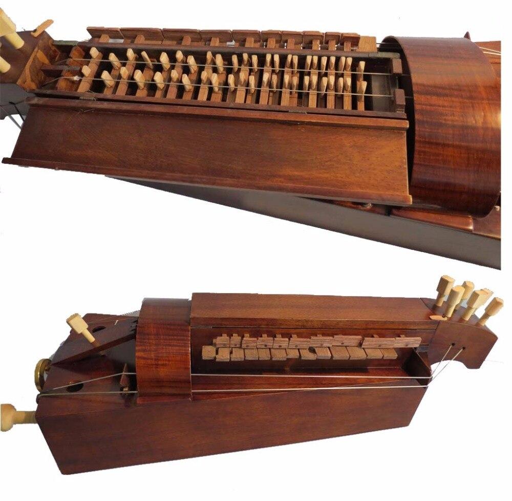 Madera de Arce, 6 cuerdas hechas a mano, 24 llaves