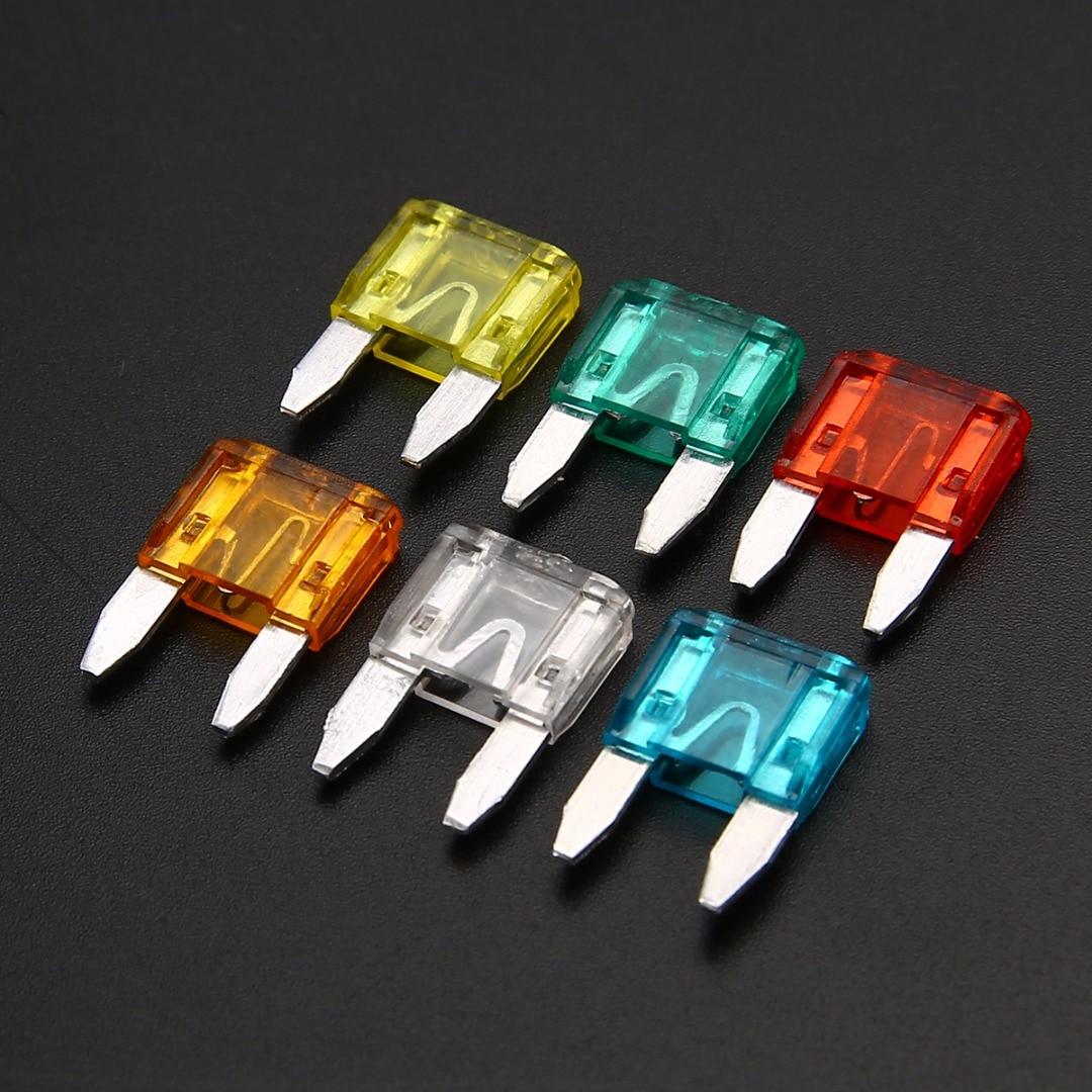 60 peças sortidas mini lâmina fusíveis kit de fusível automático conjunto 5a 10a 15a 20a 25a 30a para acessórios do caminhão do carro