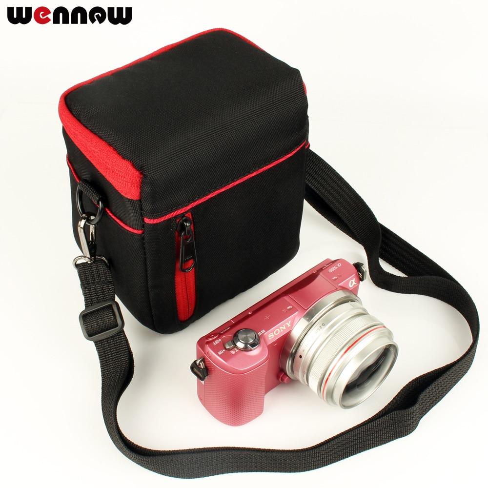 Wennew Cámara bolsa caso cubrir para Sony A6500 A6300 A6000 16-50mm lente A5100 A5000 NEX-5 NEX-6 NEX-3N NEX-5C NEX-5R NEX-5N NEX-5T