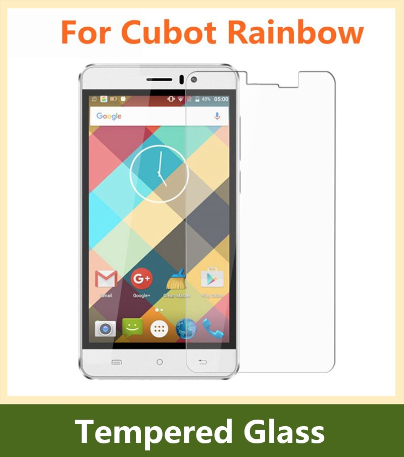 For Cubot Rainbow Tempered Glass Film New Screen Protector For Cubot Rainbow Protective Films Case 5.0 inch Guard Saver Cover