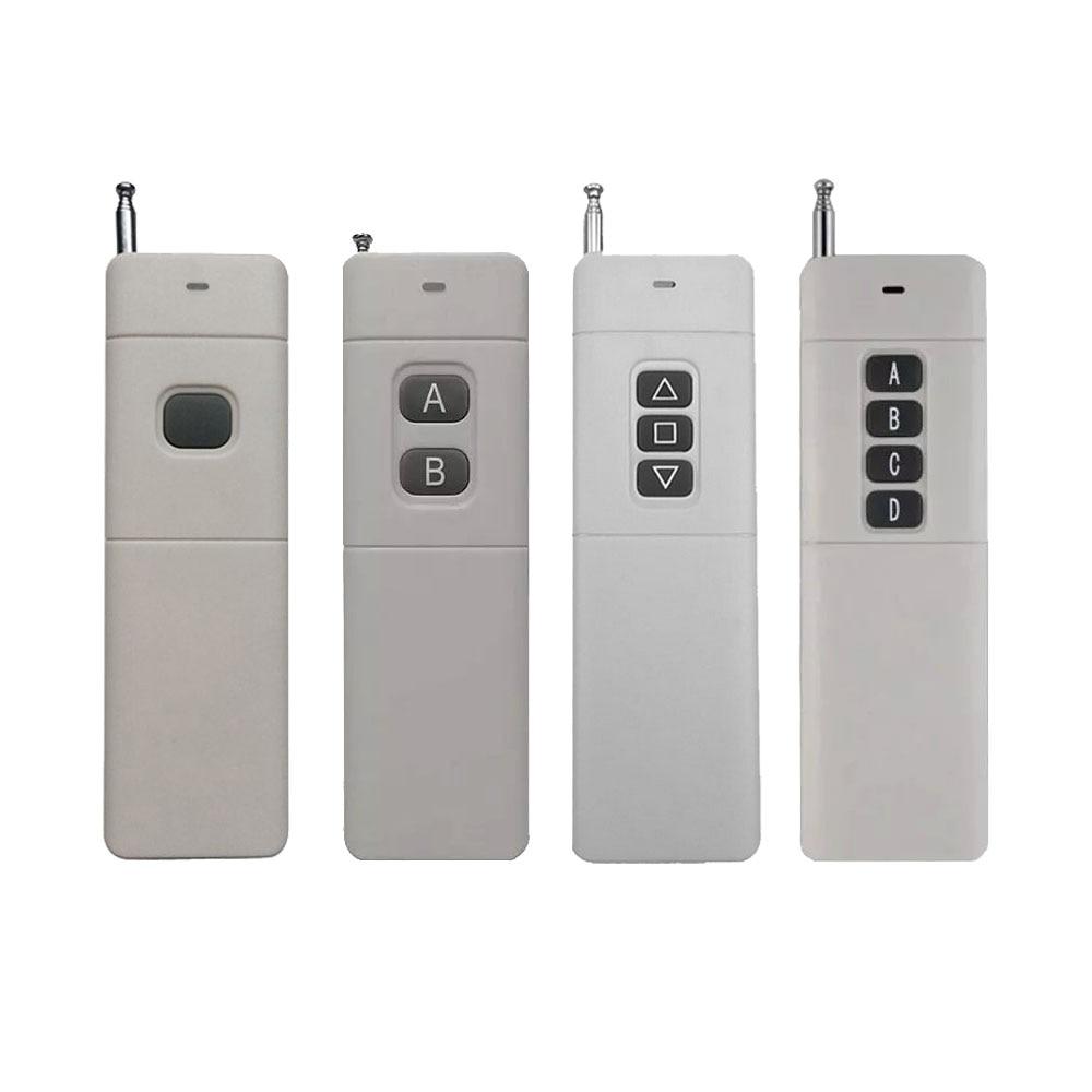 3000m 1/2/3/4 transmisor de Control remoto RF Radio remoto de largo alcance transmisor de alta potencia TX 8CH Big Button 2262