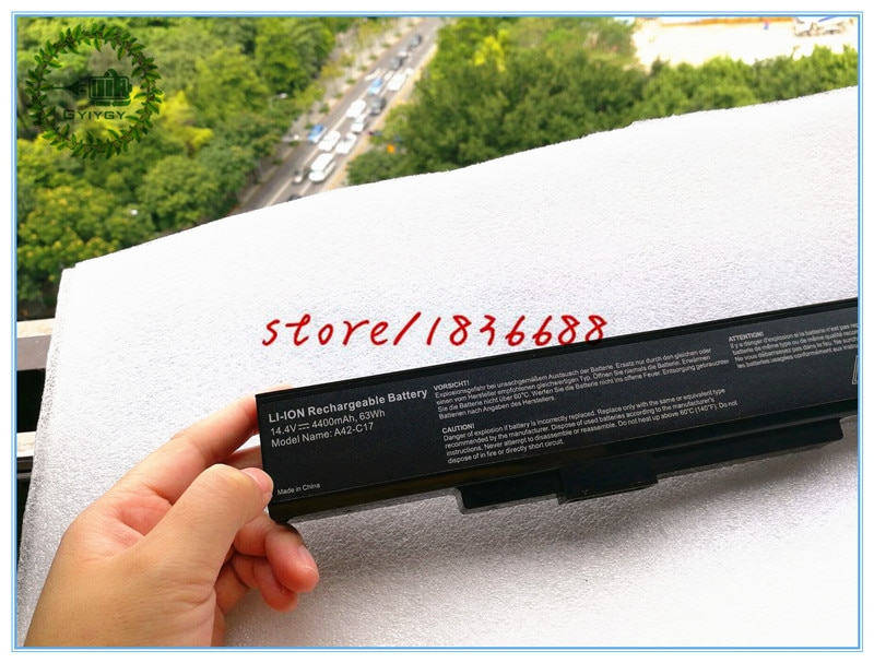 GYIYGY 14,4 В 4400 мАч A32-C17 A41-C17 Аккумулятор для ноутбука MEDION Akoya P7628 E7226T P7631T E7223T E7225 40045709 40045710
