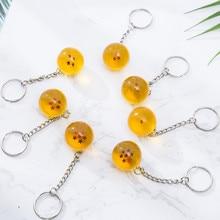 Anime bande dessinée Dragon Ball Cosplay Prop porte-clés diamètre 2.7 CM Dragon Ball suspendus ornement pendentif porte-clés