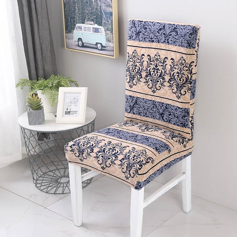 Эластичный спандекс полиэстер, чехол для кухонного стула, анти-грязный защитный чехол для сиденья, чехол для стула с рождественским узором для ресторана