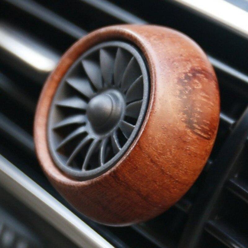 ¡Novedad! Mini ambientador de aire acondicionado de madera, clips para perfume