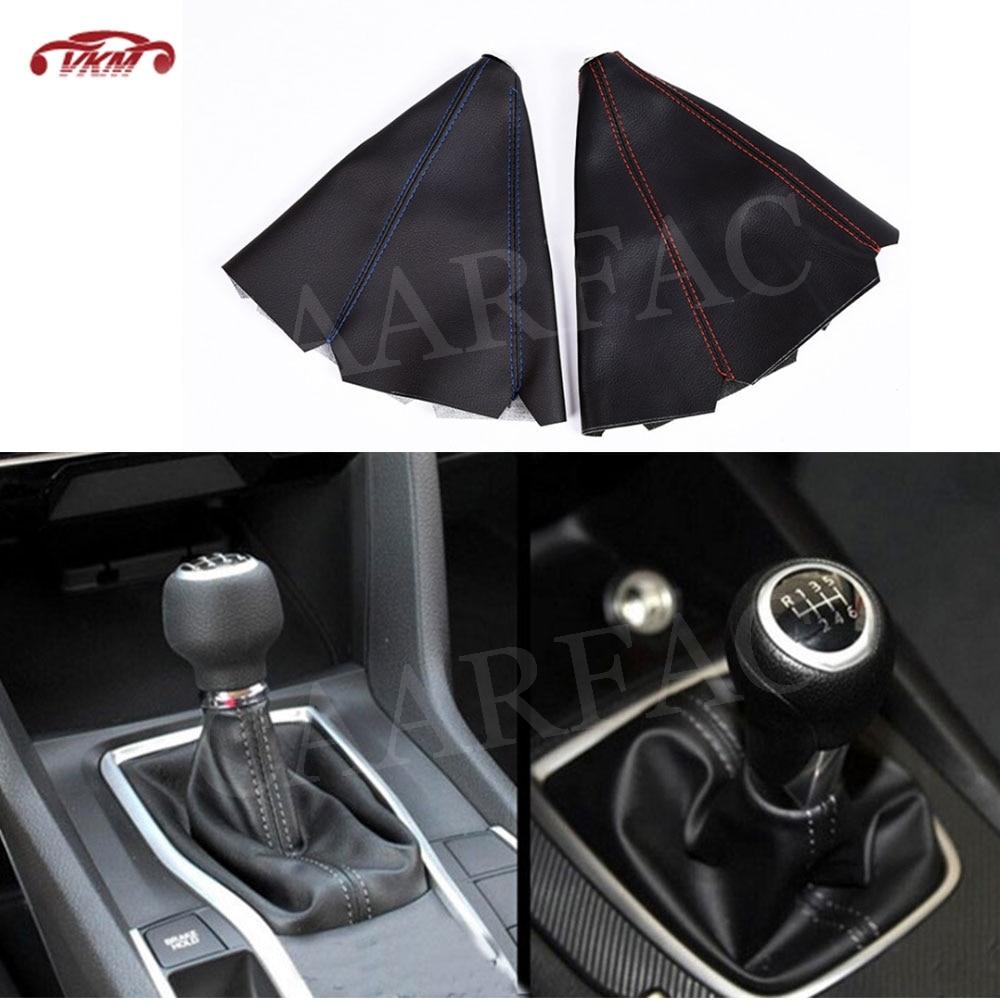 Gear Shifter Shift Collars Stitch Gear Shift Boot Cover Dust Cap Gaiter Universal Car MT/AT