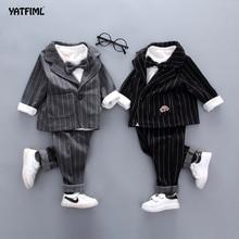 YATFIML-costume pour enfants 3 pièces   Costume de printemps pour garçons, costume pour enfants, costume pour mariage élégant garçon soirée, vêtements de fête