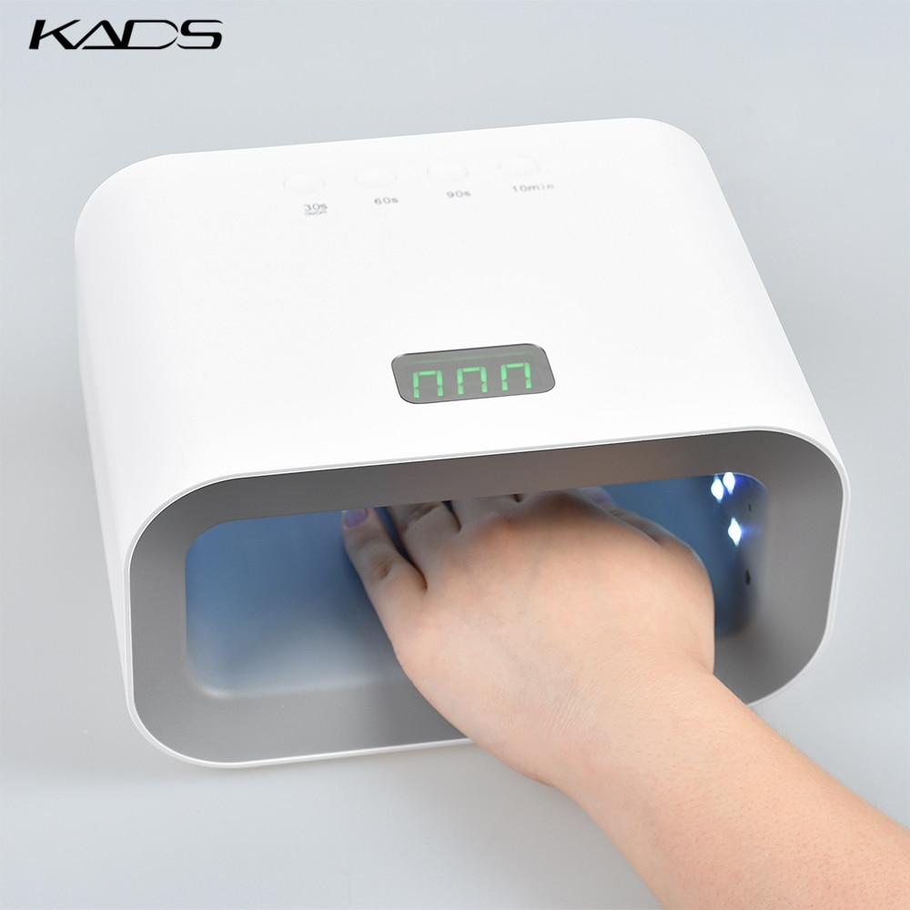 KADS UV LED Nail Lamp 90W Nail Dryer Red Light Skin Care Whitening Manicure Nail Light Curing Nail Gel Polish Auto Sensing Lamp