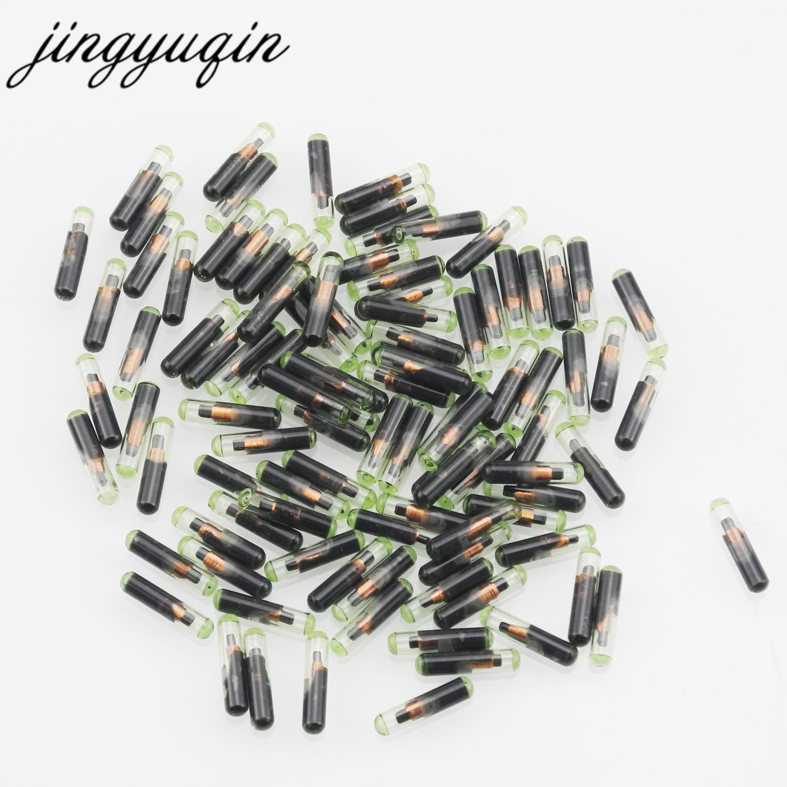 Jingyuqin-10 unids/lote de llave de coche, transpondedor ID48 T6, Chip Crypto desbloqueado...