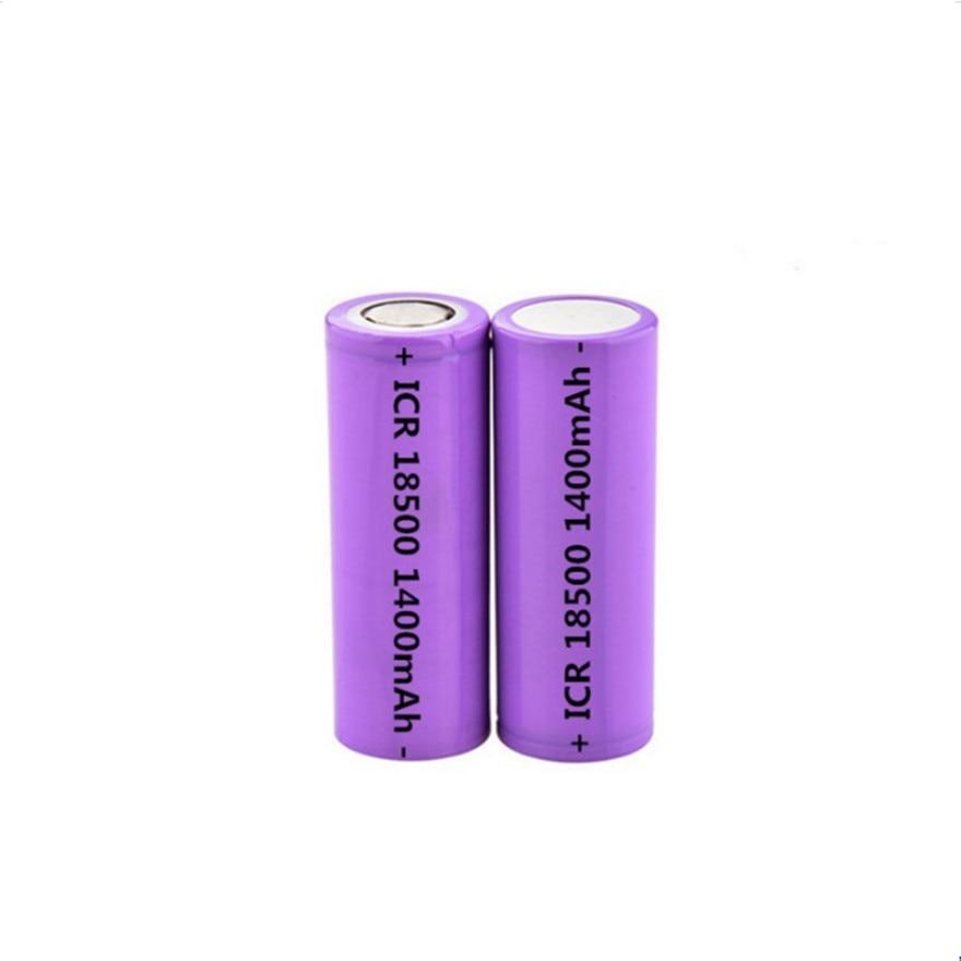 2 pçs/lote 3.7 v 18500 1400 mah de lítio recarregável bateria 3.7 v de lítio forte luz lanterna anti-luz especial bateria