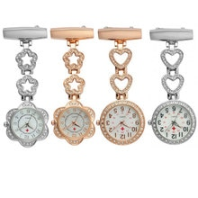 Reloj de bolsillo de moda para mujer, colgante de corazón/estrella de cinco puntas, reloj de cuarzo colgante para médico, reloj de enfermera LX TT @ 88