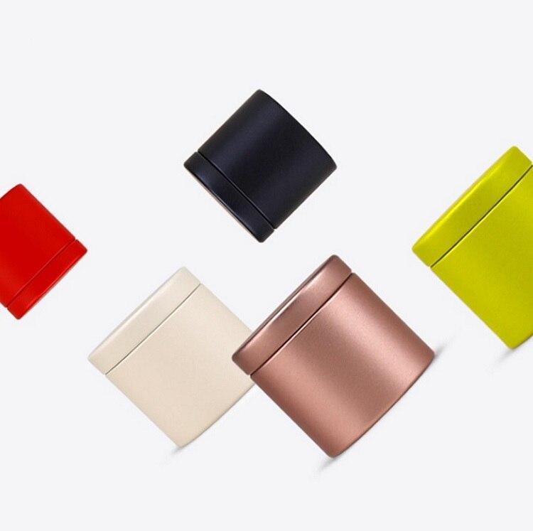 100 piezas 47x45mm Oro Negro Mini pequeña caja de té Metal caja de almacenamiento caja de dulces caja organizadora envío Gratis wen4857