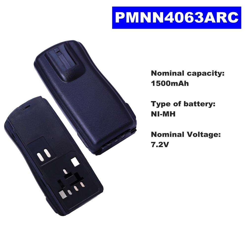 7.2V 1500mAh NI-MH Radio Battery PMNN4063ARC For Motorola Walkie Talkie GP2000/2000S/2150 Two Way Radio недорого