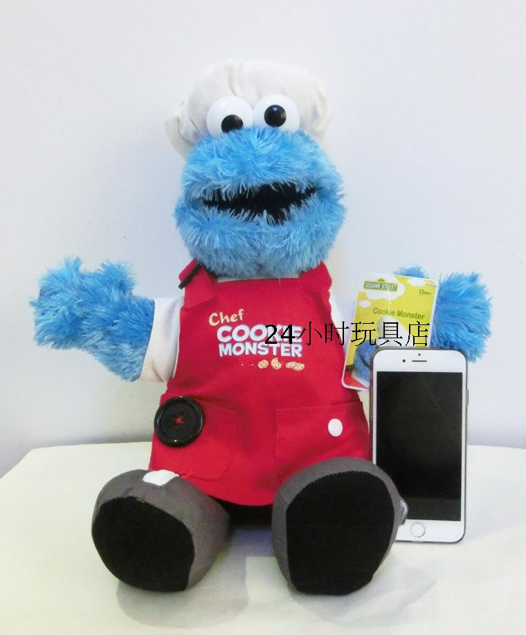 Juguete de peluche suave Elmo Cookie Monster de Barrio Sésamo de alta calidad 33cm juguetes educativos para niños