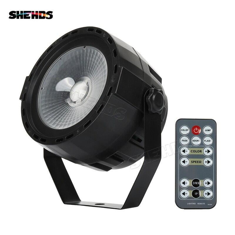 Control remoto inalámbrico LED Par COB 30W violeta DMX512 efecto de escenario iluminación bueno para DJ Disco hogar fiesta de cumpleaños discoteca