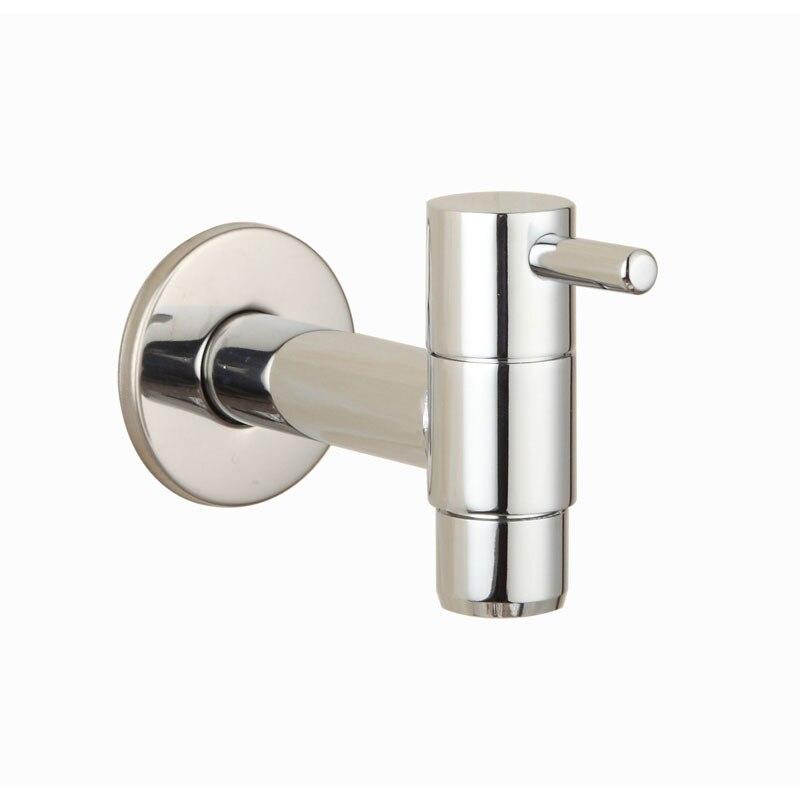 Brass Chrome Laundry Bathroom Wetroom Faucet Wall Mount Cold Water Faucet Sink Tap Spigot Bibcocks Garden Hose Water tap 2630020