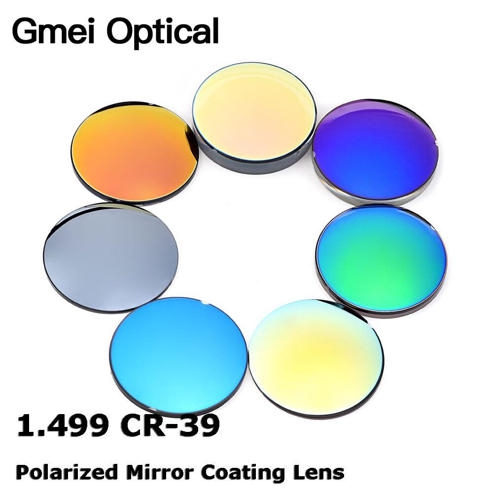 Gmei оптический 1,499 CR-39 стандартный индекс смолы зеркало Красочное Покрытие поляризованные близорукость солнцезащитные очки оптические линзы; По назначению специалиста