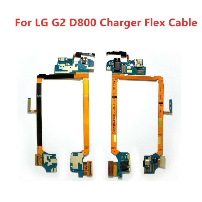 Puerto USB de carga conector para LG G2 D800 D801 accesorio del teléfono de carga de puerto de auriculares Jack cinta de cable Flex