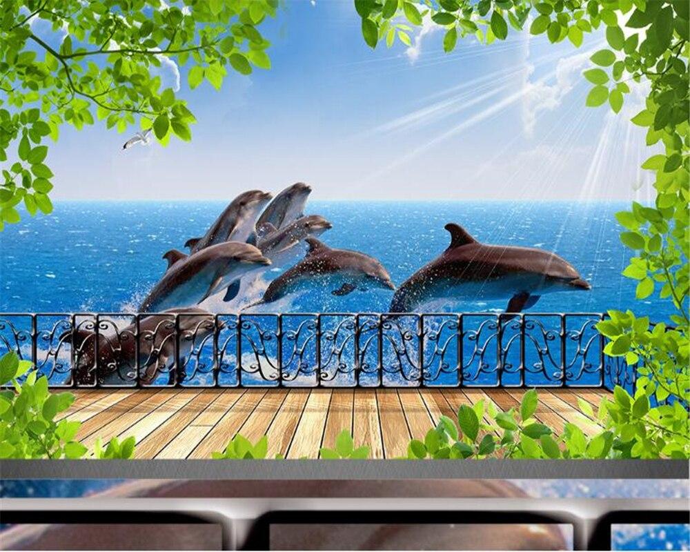 Papel de pared beibehang, Papel tapiz 3d, Papel tapiz avanzado de fantasía para interiores, paisaje costero con personalidad, Fondo de TV Papel tapiz