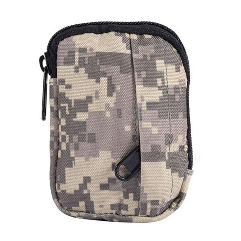 Caça Pacote EDC Militar Camuflagem Digital Funcional Saco Camo Molle Bolsa Pequena bolsa de Moedas Prático Saco de Acampamento Bolsa